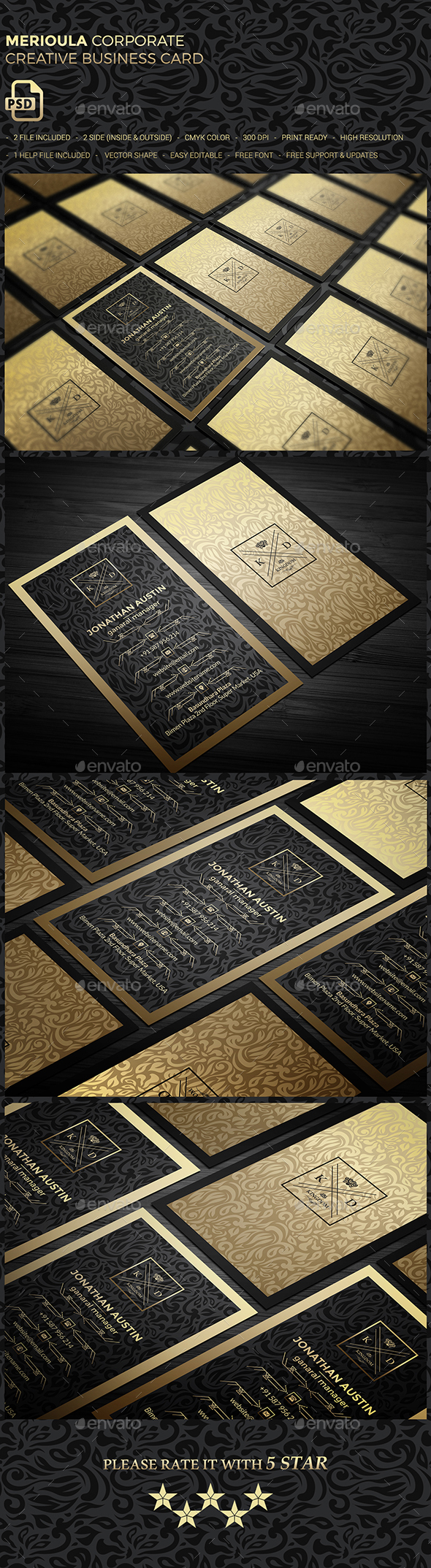 GraphicRiver Merioula Elegant Business Card 20598648