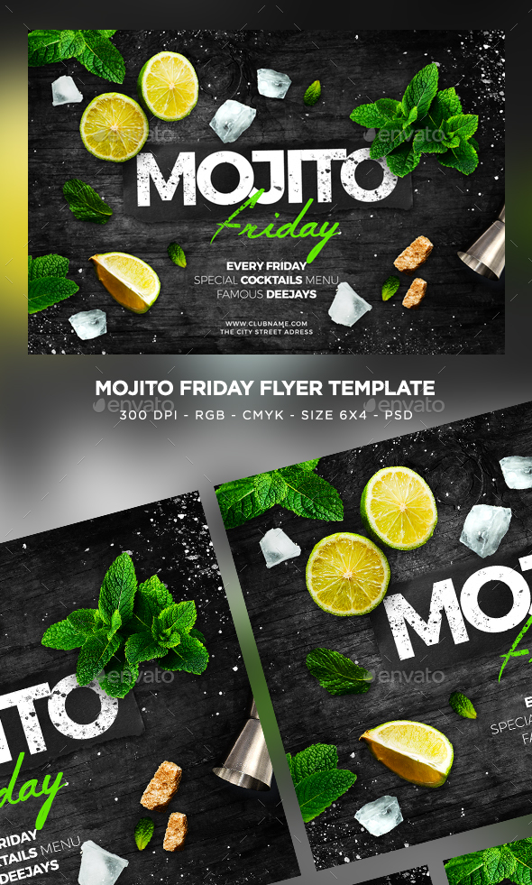 Mojito Friday Flyer - Clubs & Parties Events