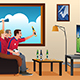 Soccer Fans Watching TV - GraphicRiver Item for Sale
