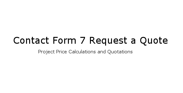 A Quote Unique Contact Form 7 Request A Quoteryanitsolutions  Codecanyon
