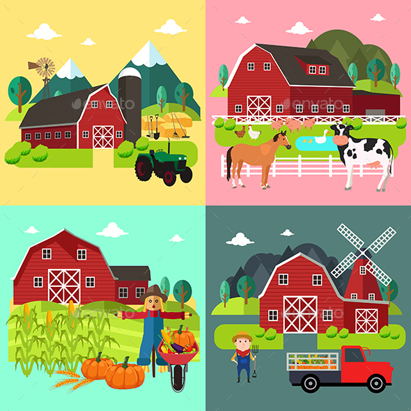 Farm Life Cliparts - People Characters