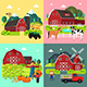 Farm Life Cliparts - GraphicRiver Item for Sale