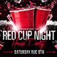 Red Cup Event Flyer - GraphicRiver Item for Sale