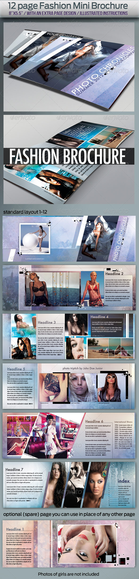 12 page Fashion Brochure - Corporate Brochures
