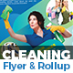 Cleaning Service Flyer & Roll-Up Bundle