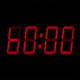 60 Second Red Digital Countdown Display - VideoHive Item for Sale