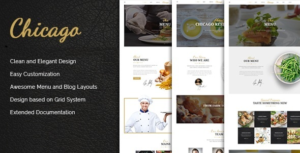 Image of Chicago - Multi-Purpose HTML/CSS Restaurant Template