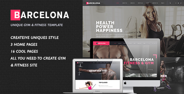 Barcelona - HTML/CSS Template for Fitness Gym and Fitness Centers