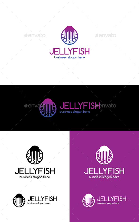 Jellyfish - Animals Logo Templates