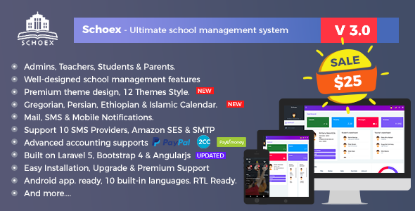 Schoex - Ultimate school management system - CodeCanyon Item for Sale