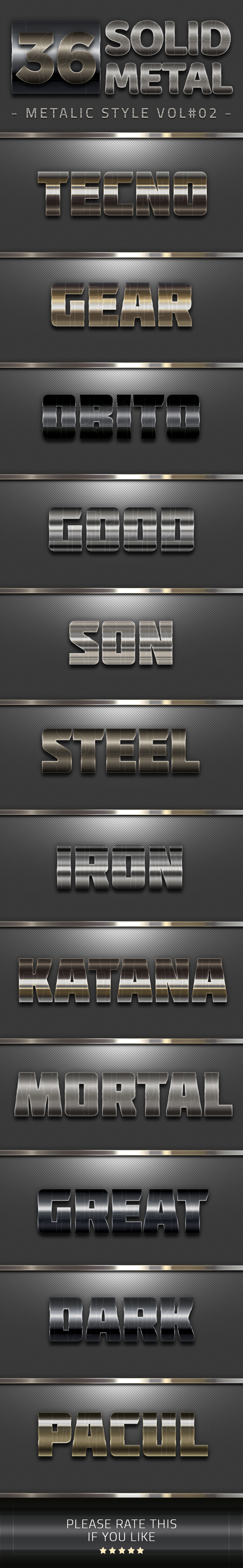 GraphicRiver 36 Solid Metal Text Effect V02 20609998