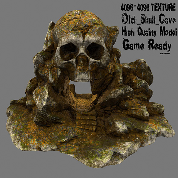 skull cave 1 - 3DOcean Item for Sale