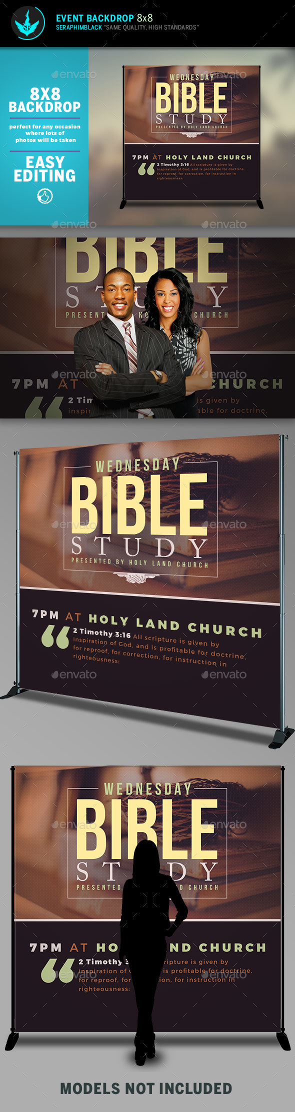 GraphicRiver Bible Study 8x8 Event Backdrop Template 20610198