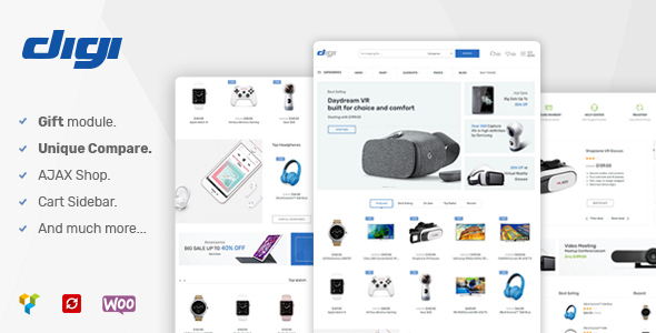 Digi - Electronics WooCommerce Theme (Promotion Gift Feature)