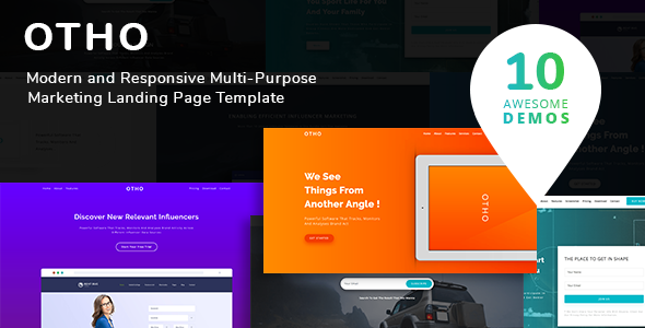 Otho - Landing Page Set - Marketing Corporate