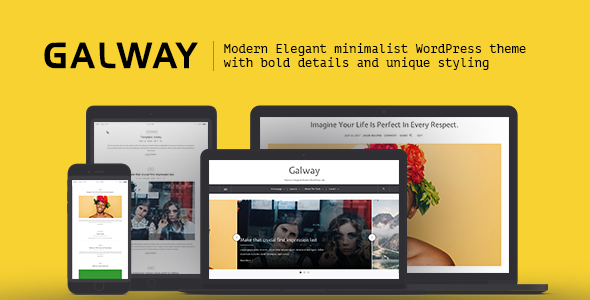 Galway – A Clean Minimalist WordPress Blog Theme (Blog / Magazine)