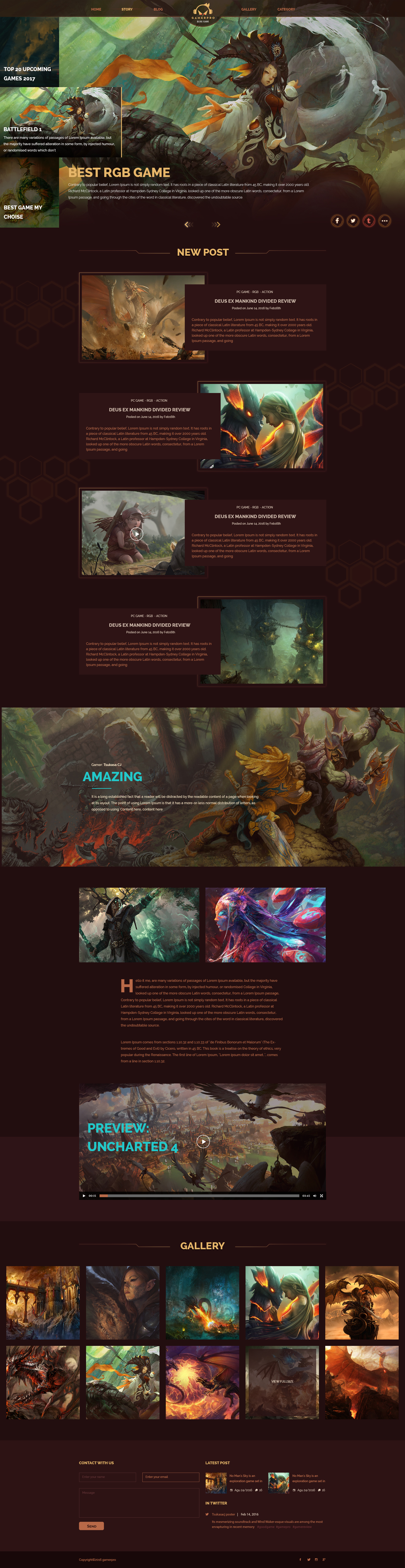GAMERPRO - Fantastic Blog PSD Template for GAME SITES by 1protheme