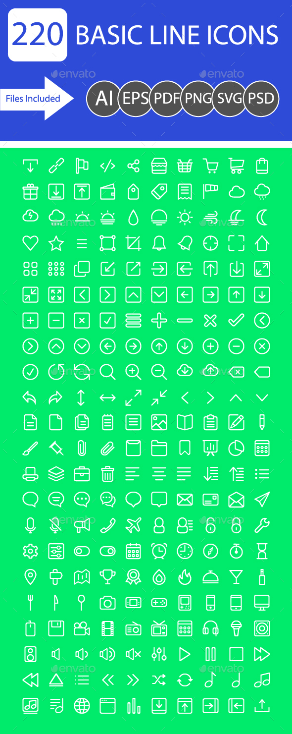 GraphicRiver Basic line Icon 20610294