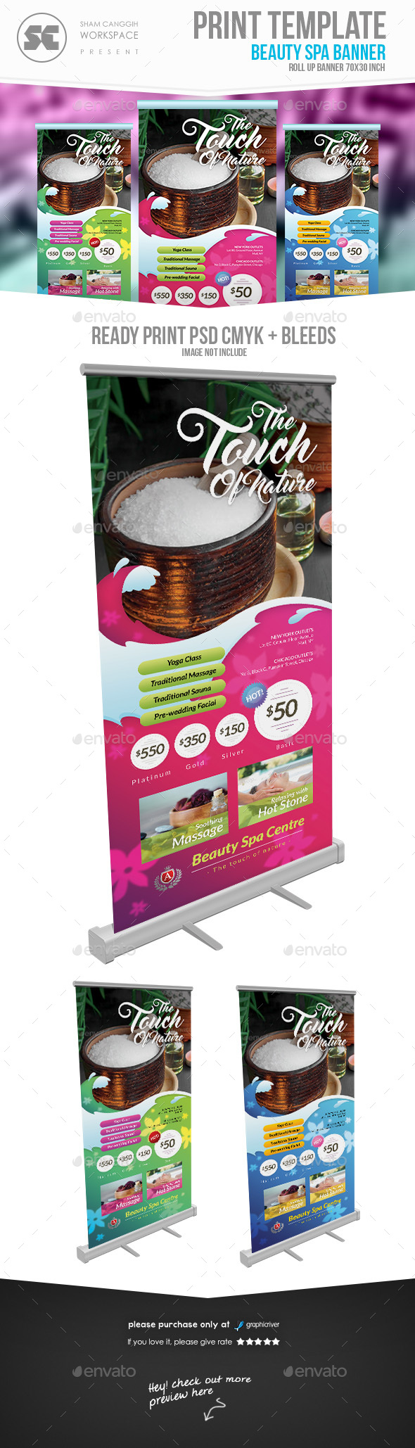 Beauty Spa & Health banner - Signage Print Templates