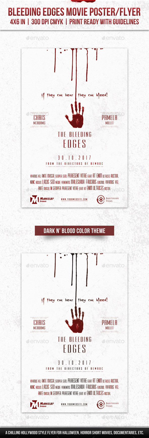 GraphicRiver Bleeding Edges Movie Poster Flyer 20610326