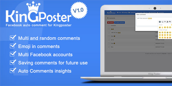 Facebook Auto comment Module for Kingposter