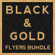 10 Minimal Black and Gold Flyers Bundle - GraphicRiver Item for Sale
