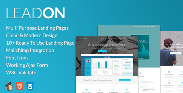 LeadOn - Multi-Purpose Landing Page Pack - Landing Pages Marketing