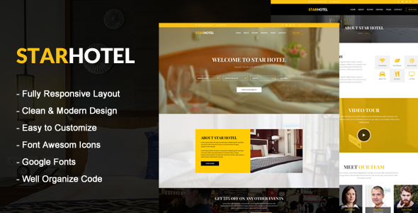 STAR HOTEL - Hotel & Resort HTML5 Template