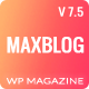MaxBlog - Flat News Magazine Blog WP - ThemeForest Item for Sale