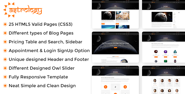 ThemeForest Astrology Site Template 20474820