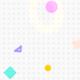 White Geometric Shapes Background