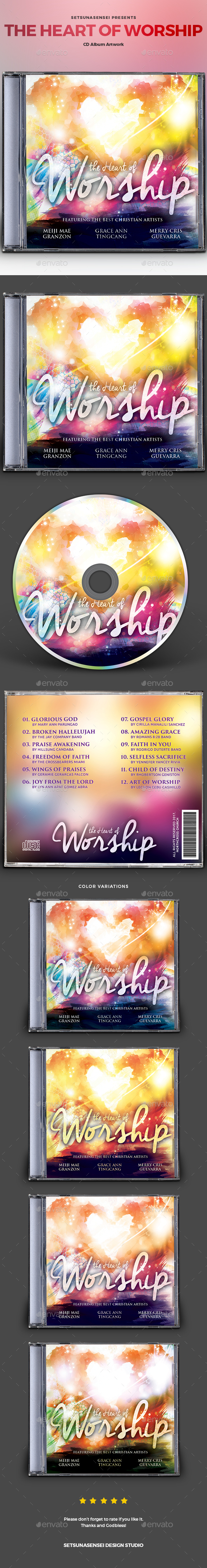 GraphicRiver The Heart of Worship CD Album Artwork 20610589