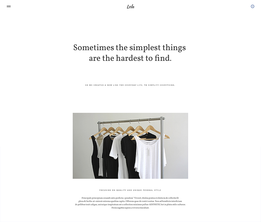 Lola minimal ecommerce fashion psd template by cubecreation lola minimal ecommerce fashion psd template maxwellsz