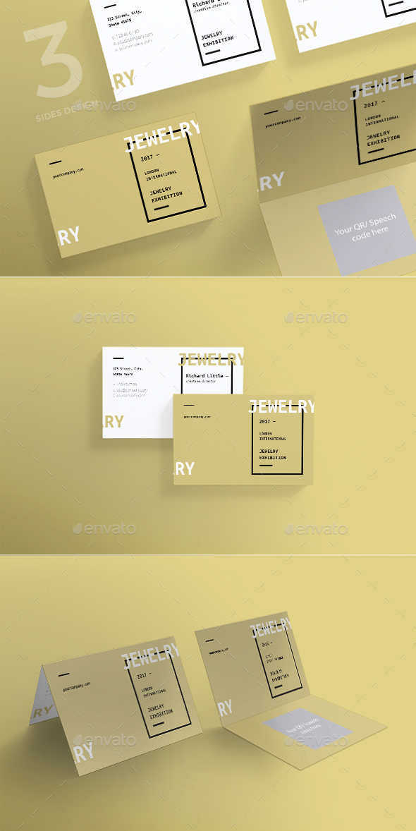 GraphicRiver Jewelry Exhibition Business Card 20610593