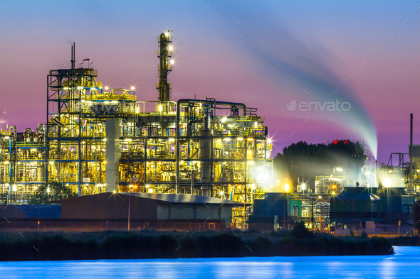 Colorful Industrial Chemical area detail - Stock Photo - Images