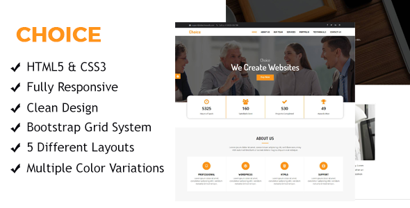 Choice - One page multipurpose HTML Templates - Business Corporate