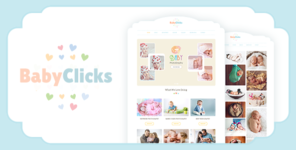 ThemeForest Baby Photography WordPress Photographer Theme 20610806
