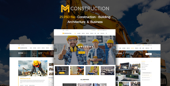 MConstruction - Construction & Building PSD