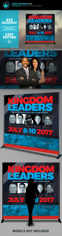 Kingdom Leaders 8x8 Event Backdrop Template - Signage Print Templates