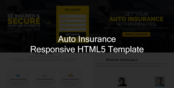 Image of Jr. Auto Insurance Landing Page - Responsive HTML5 Template