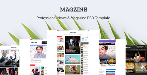 MAGZINE - News Magazine Newspaper PSD Templates