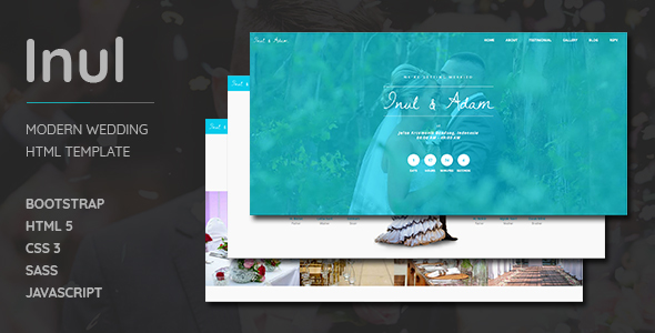 Inul Modern Wedding HTML Template