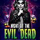 Night Of The Evil Dead Flyer Template