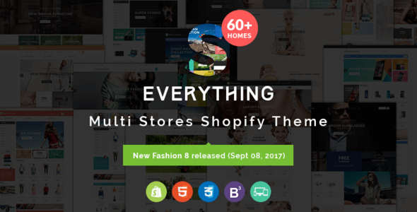 Everything - Multipurpose Premium Responsive Shopify Themes - Fashion, Electronics, Cosmetics, Gifts