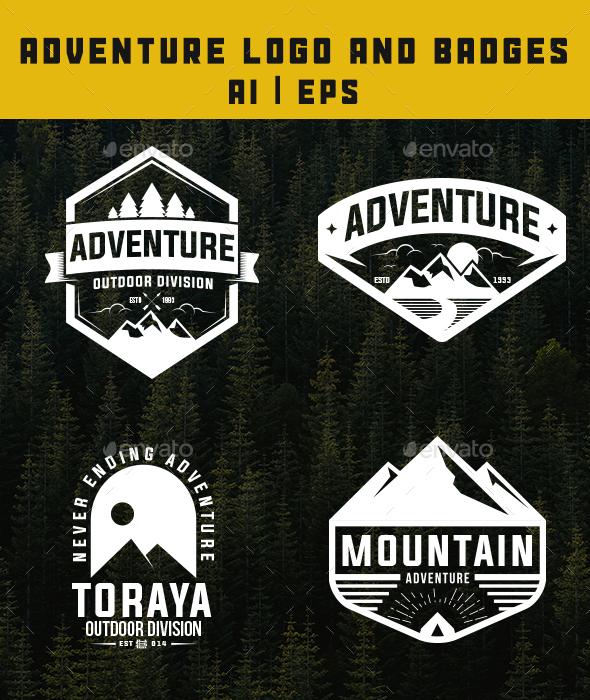 GraphicRiver Adventure Logo and Badges 20612164