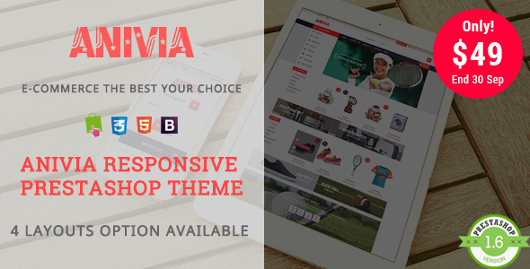 Anivia - Shopping Sports, Shoes Responsive Prestashop Theme