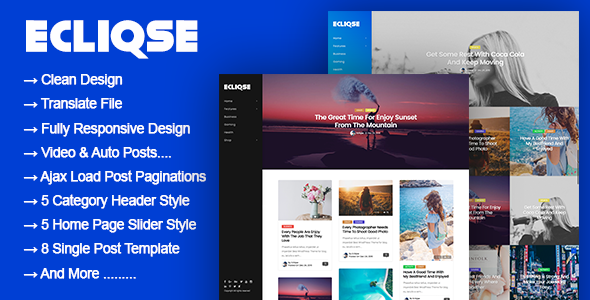 Ecliqse - WordPress Blog Magazine Theme
