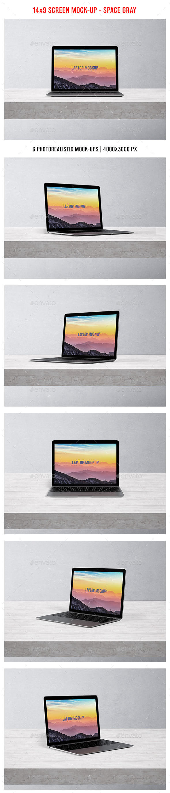 Laptop Mockup - Space gray - Laptop Displays