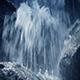 Moving Along Rocky Waterfall Closeup