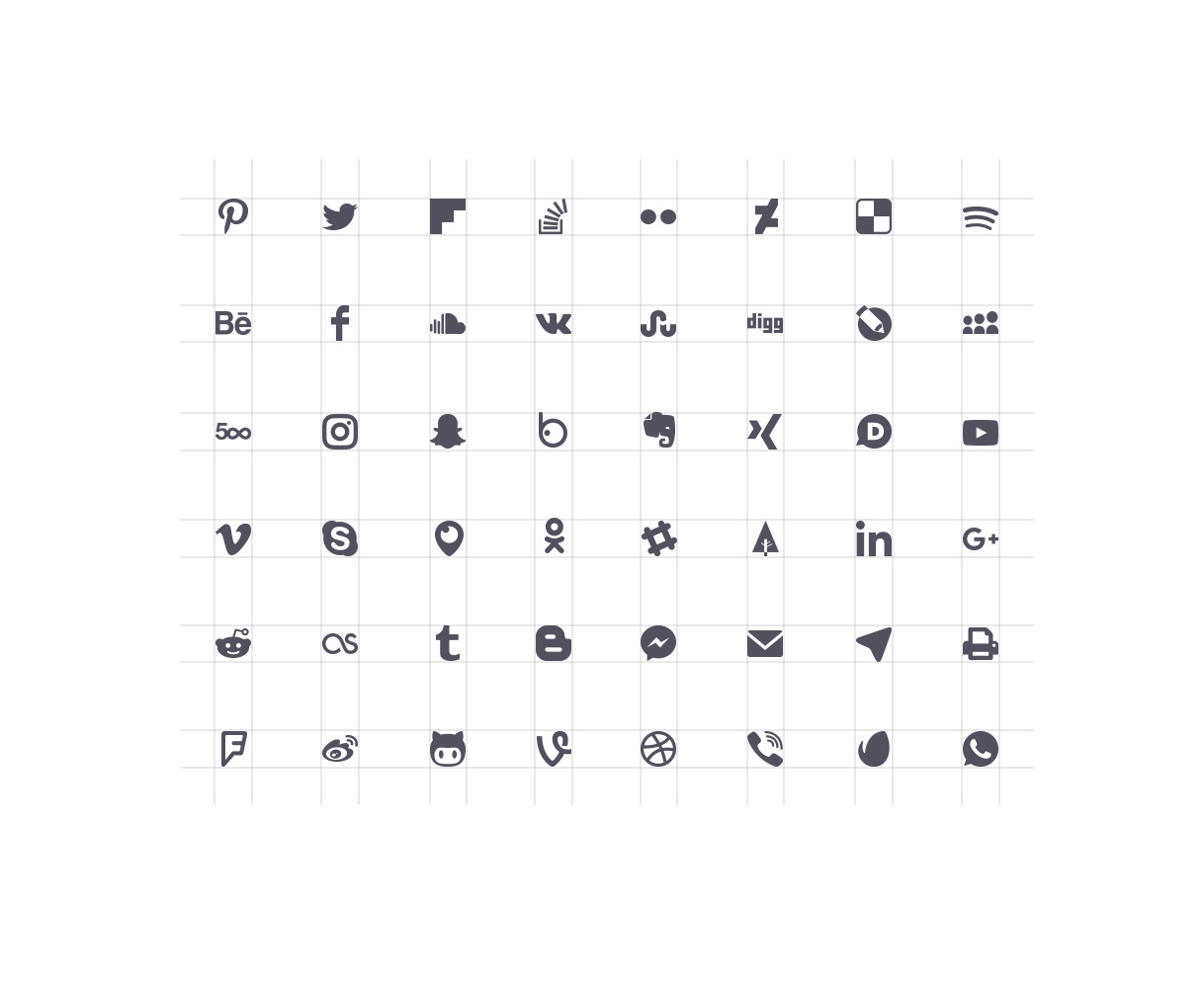 social media icons black and white. elfsight-social-media-icons-screenshot-1.jpg social media icons black and white